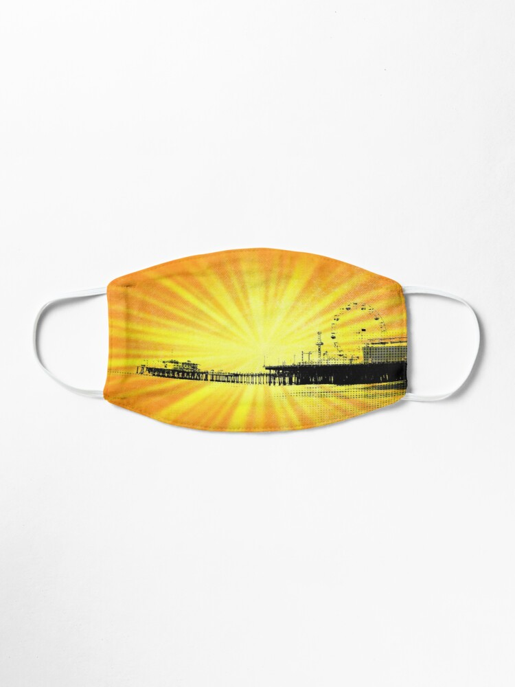 Alternate view of Santa Monica Pier Yellow Sunburst Mask