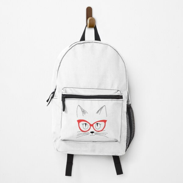 Cute Cat With Glasses Backpack