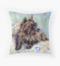 Cairn Terrier Dog Portrait  Throw Pillow