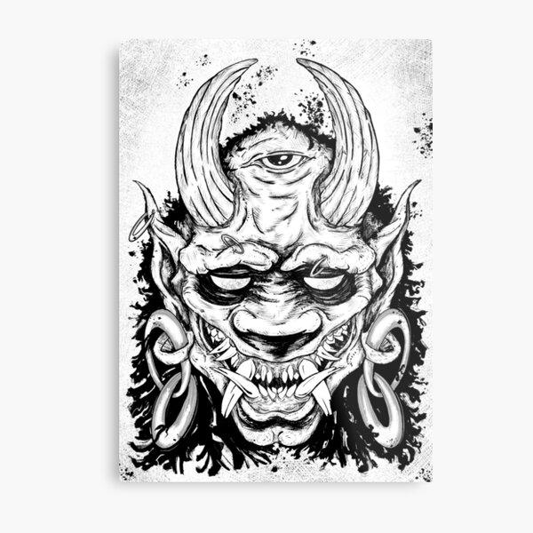 Oni Mask Metallbild