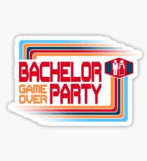Bachelor Party Game Over Sticker