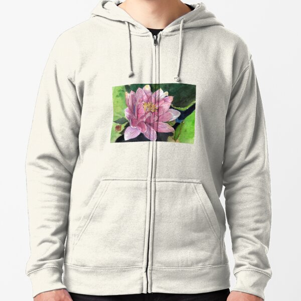 Water Lily Zipped Hoodie
