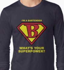 Bartender Superhero Long Sleeve T-Shirt