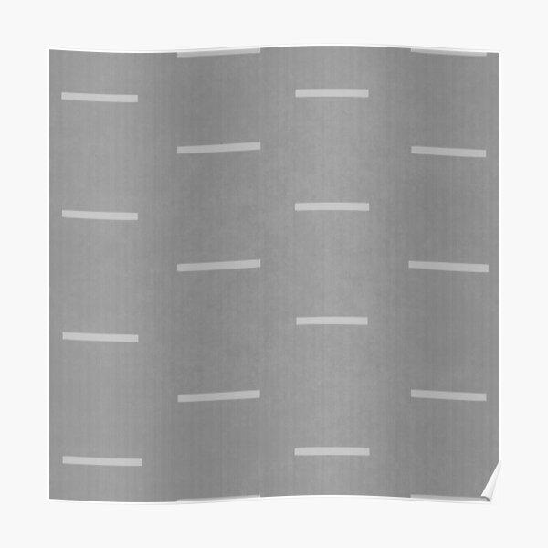 Grey mudcloth Poster