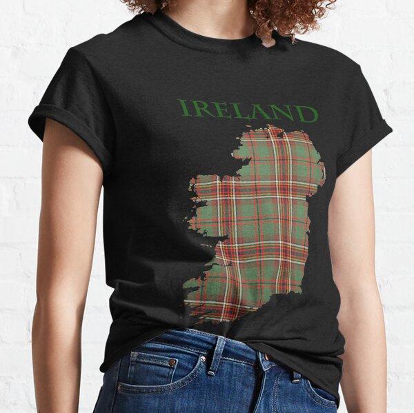 Map of Ireland in Murphy Tara Tartan. Classic T-Shirt