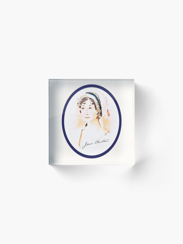Alternate view of Portrait of a Lady Writer - Jane Austen Acrylic Block