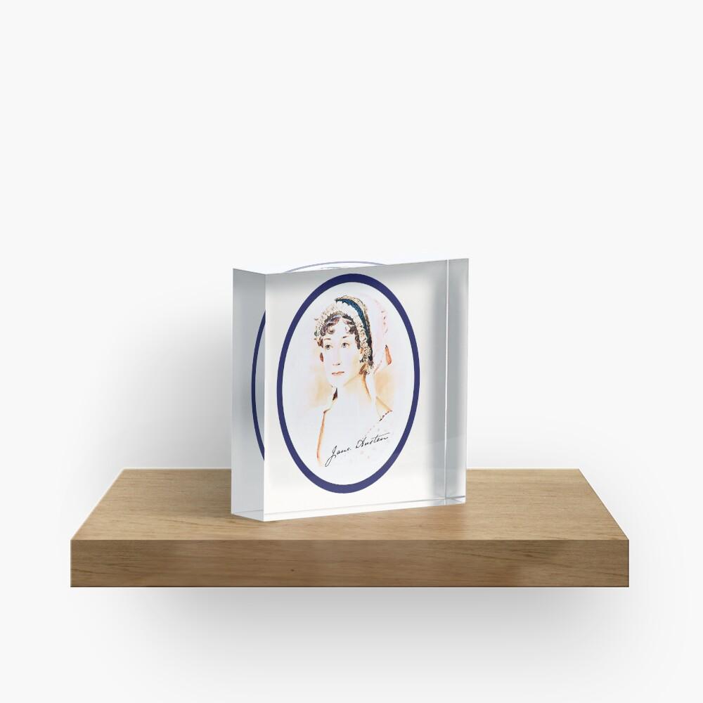 Portrait of a Lady Writer - Jane Austen Acrylic Block