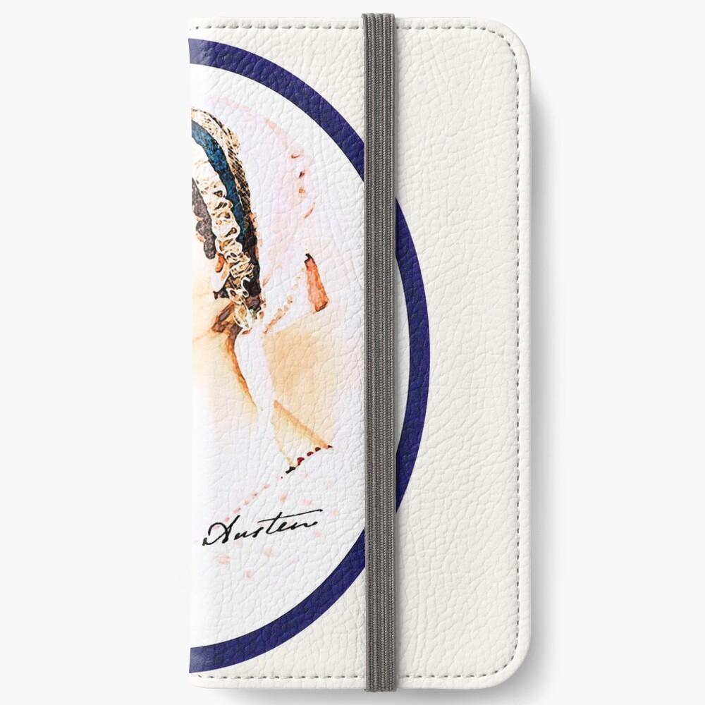 Portrait of a Lady Writer - Jane Austen iPhone Wallet