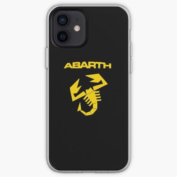 Abarth Logo scorpion Jaune Coque souple iPhone