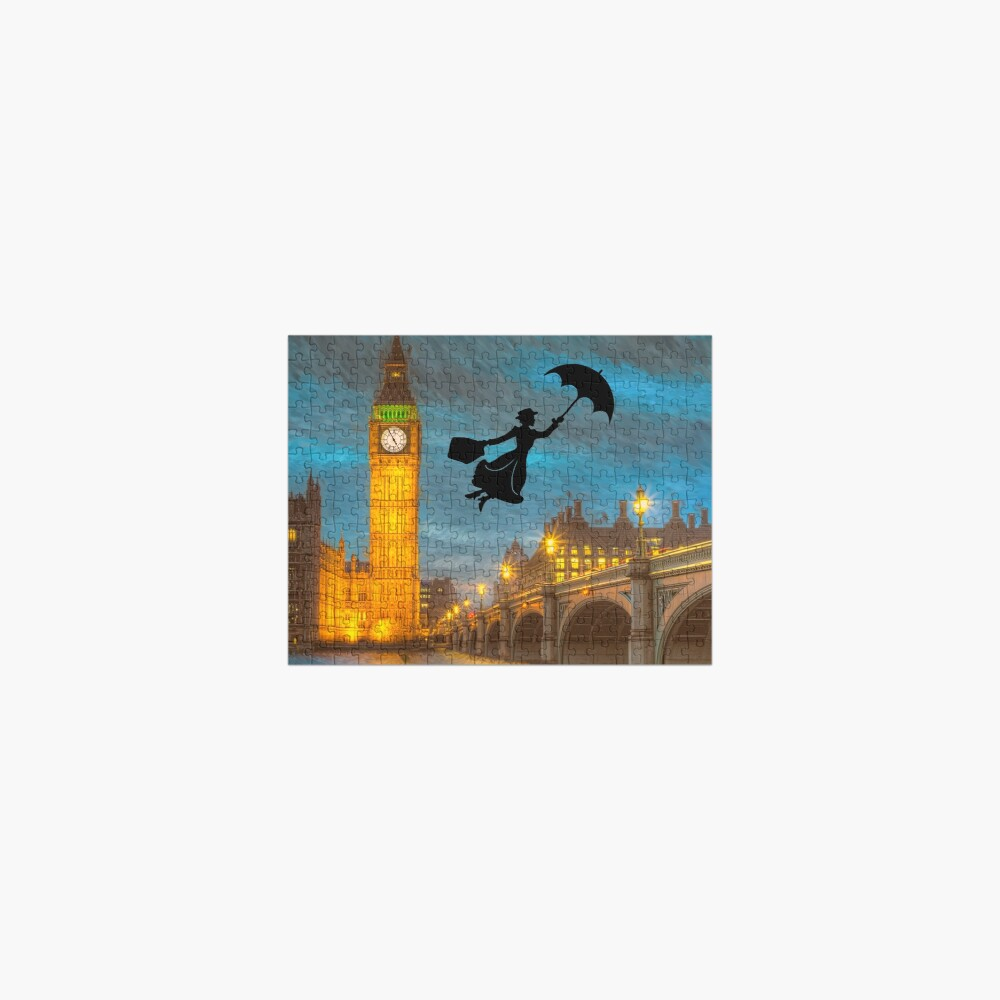 Magical Nanny Over London  Jigsaw Puzzle