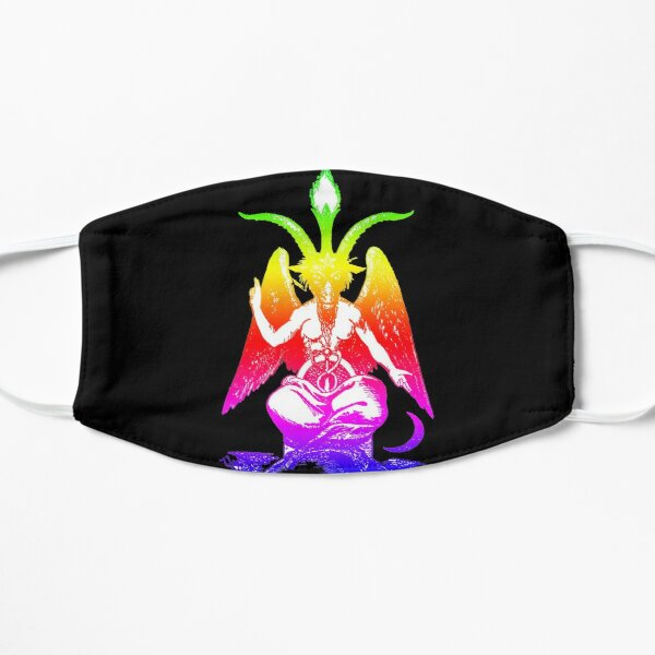 Rainbow Pride Baphomet Flat Mask