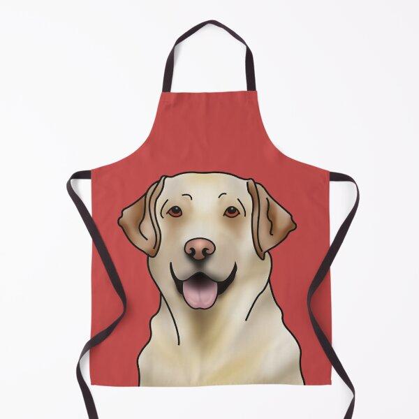 Labrador Retriever Dog Portrait - Red Apron