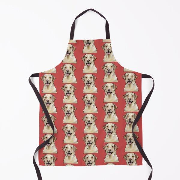 Labrador Retriever Dog Portrait - Pattern - Red Apron
