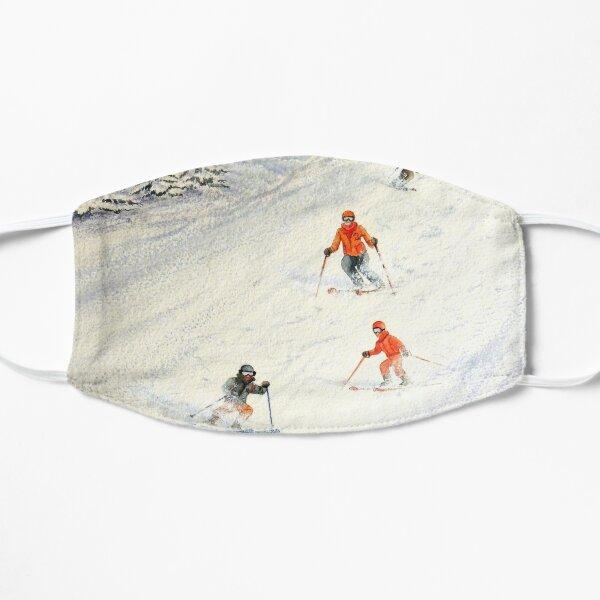 Skiing Family On The Slopes Flat Mask