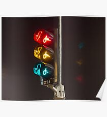 Bicycle traffic light Poster
