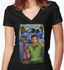 Psyched Women's Fitted V-Neck T-Shirt