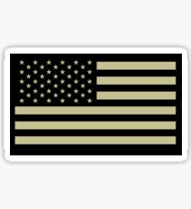 AMERICAN, ARMY, reverse side flag, Soldier, American Military, Arm Flag, US Military, IR, Infrared, USA, Flag, on BLACK Sticker