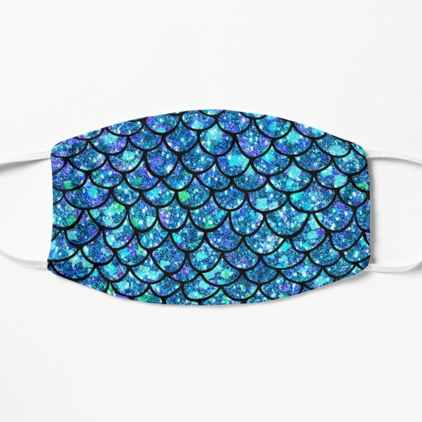 Magical Sparkly Mermaid Scales Flat Mask