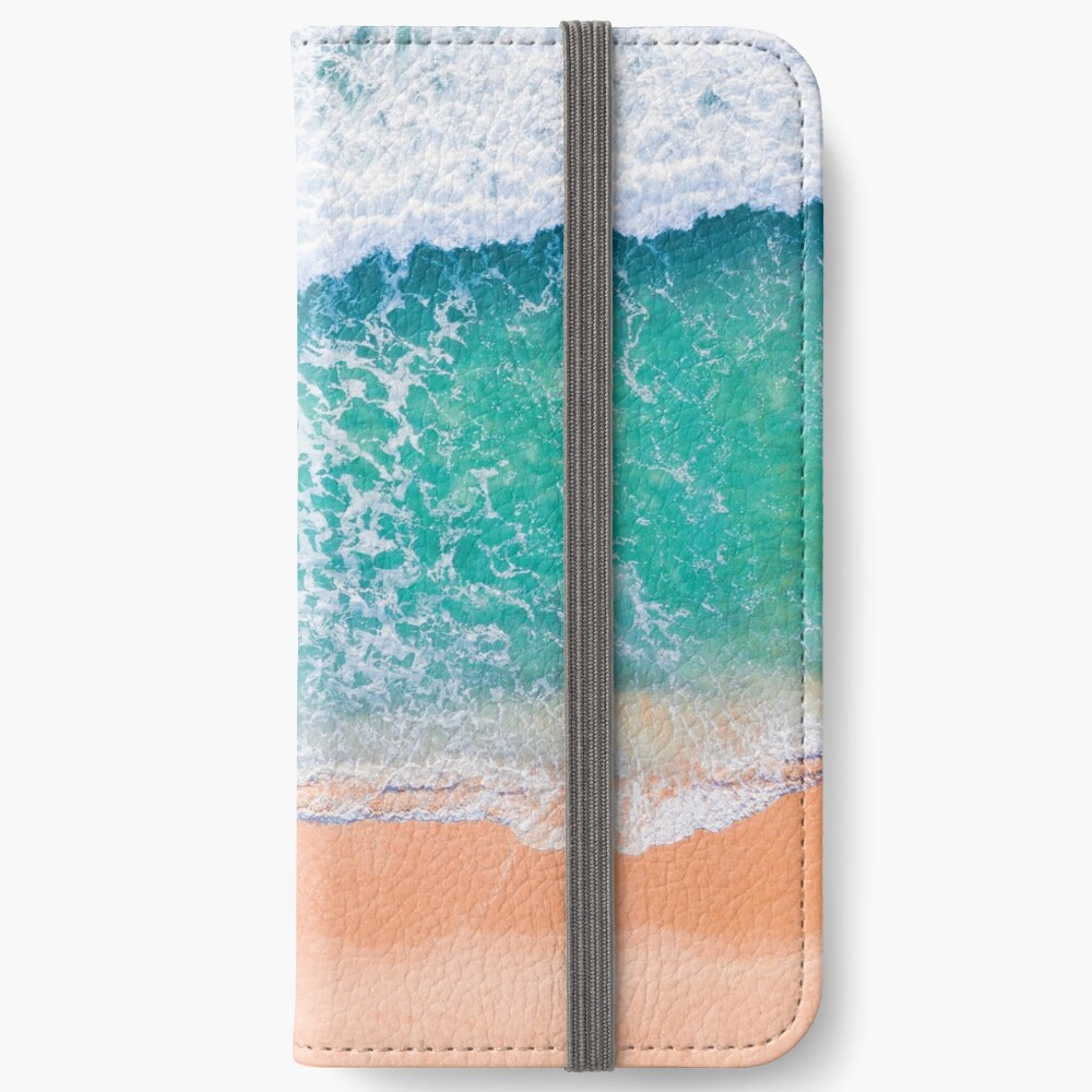Green waves iPhone Wallet