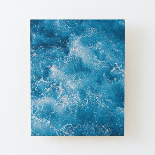 Blue ocean view Wood Mounted Print