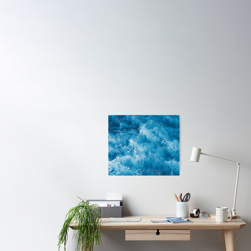 Blue ocean view Poster