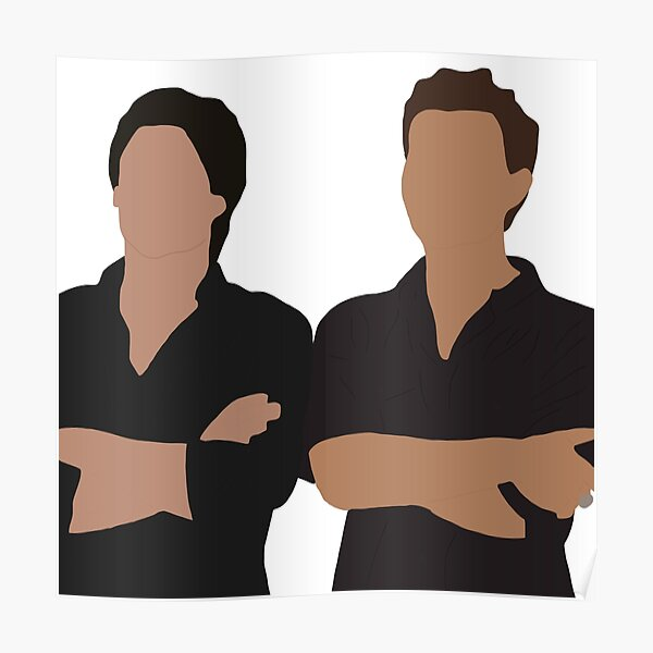 stefan and damon Poster