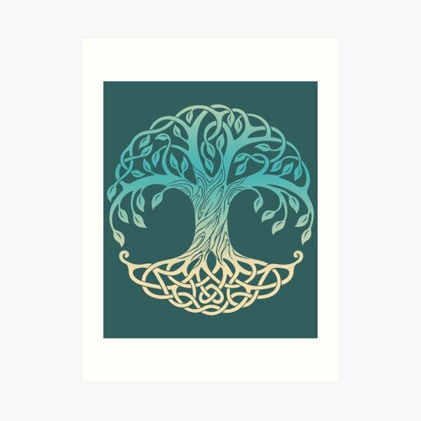 Yggdrasil, árbol de la vida vikingo Lámina artística