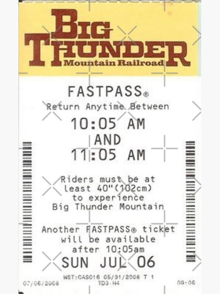 Big Thunder Mountain Fastpass by SophiaKno