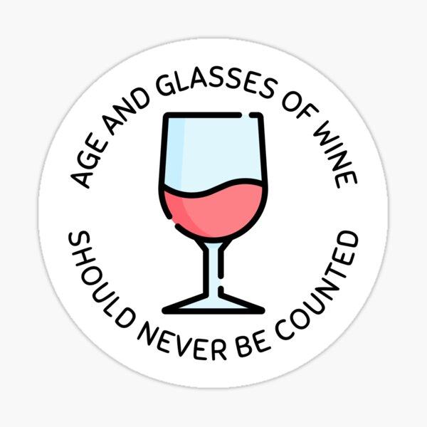 Fun Wine Quote Sticker