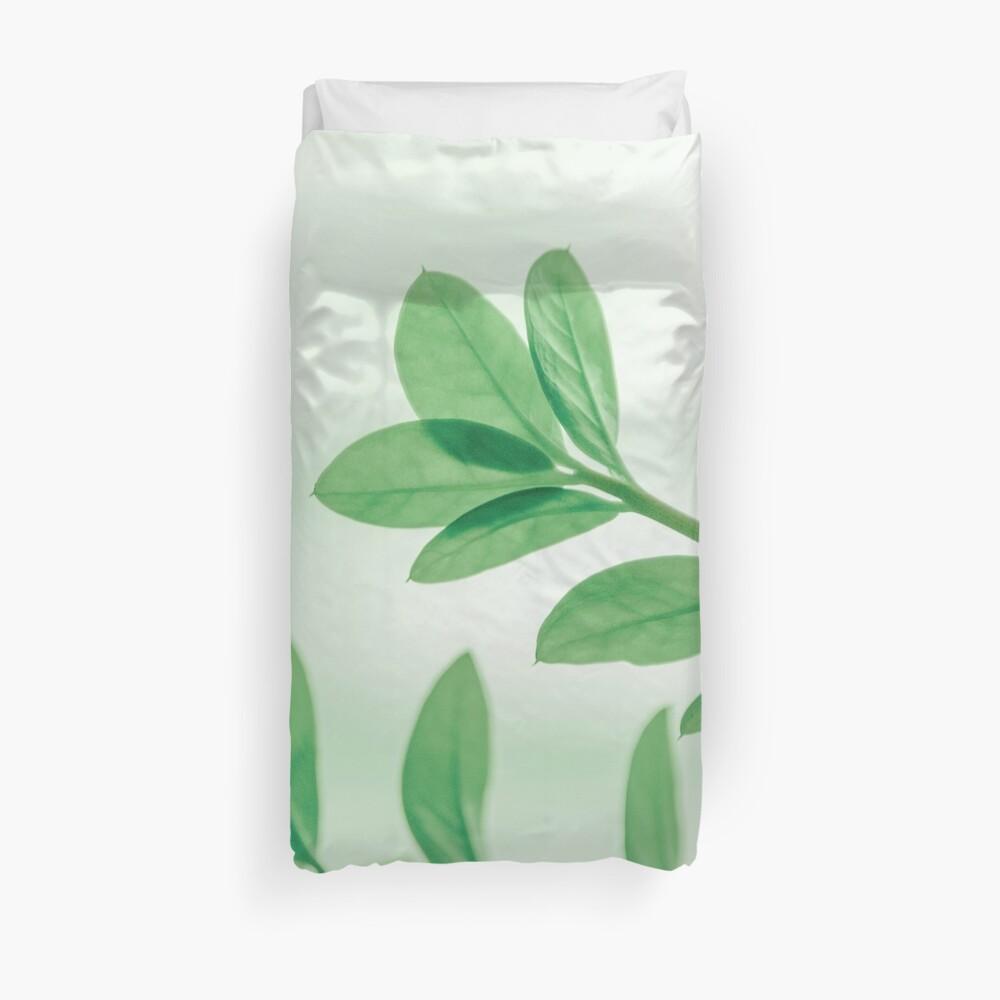 Green summer leaves Duvet Cover
