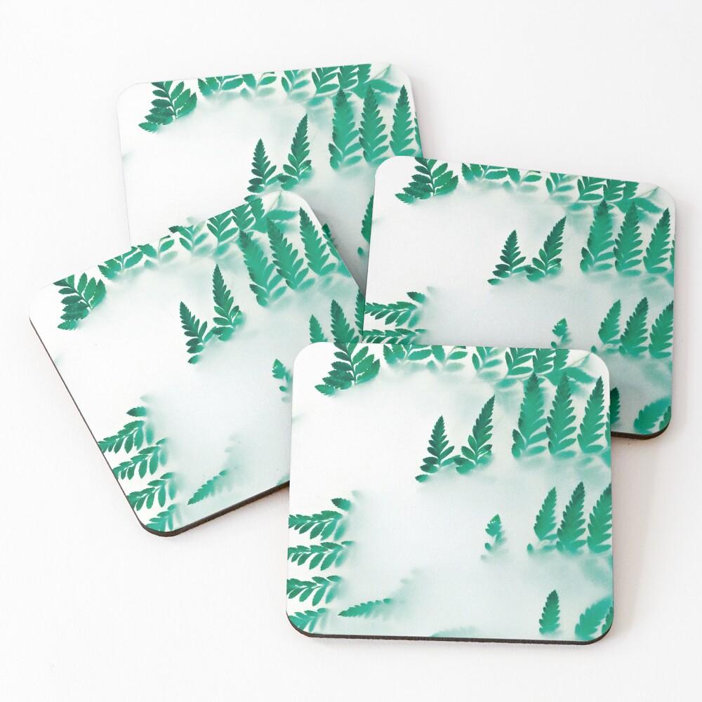 Foggy fern Coasters (Set of 4)