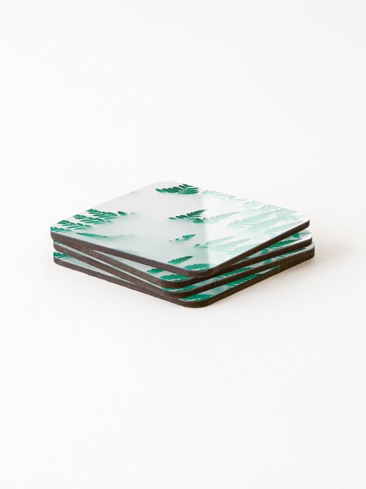 Alternate view of Foggy fern Coasters (Set of 4)