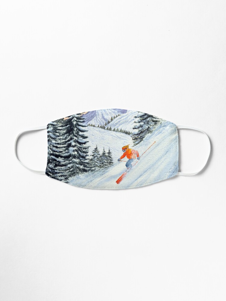 Alternate view of Skiing - The Clear Lady Leader Mask