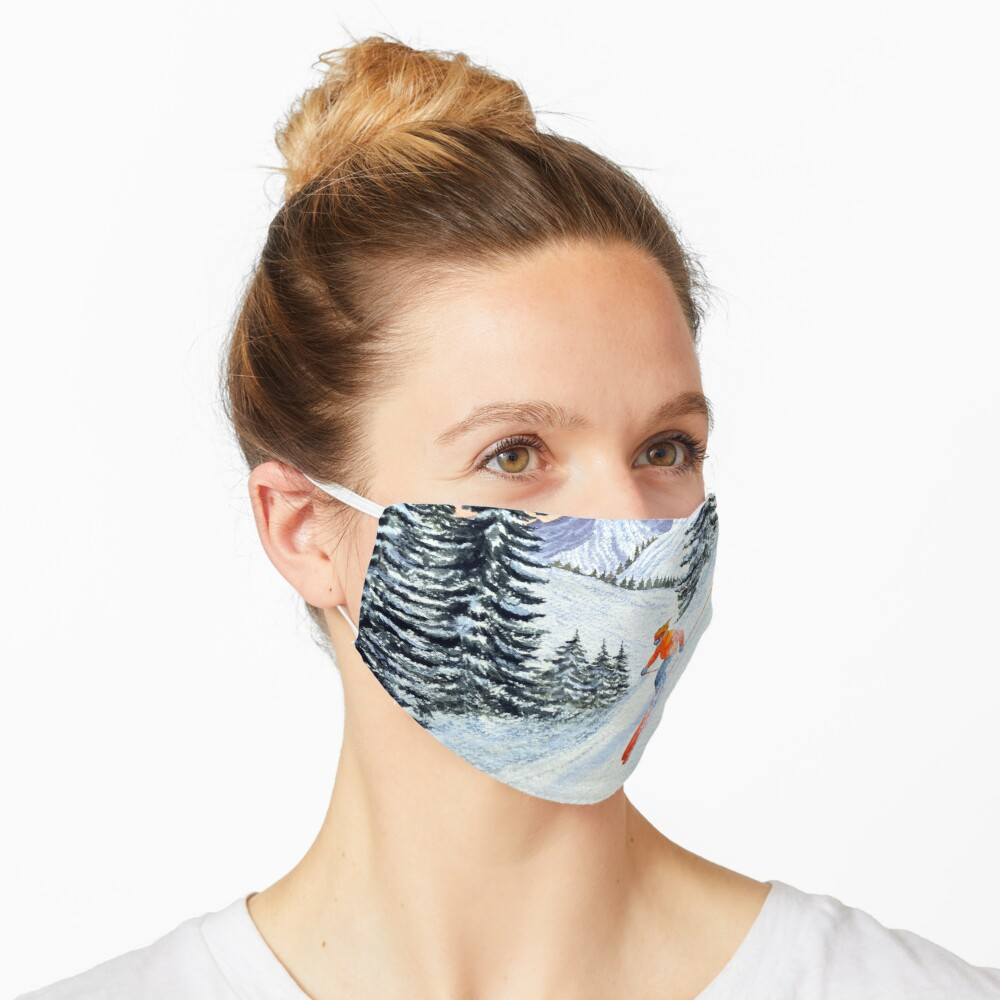 Skiing - The Clear Lady Leader Mask