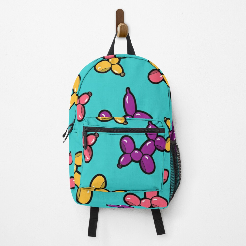 Balloon Animal Dogs Pattern in Blue Backpack