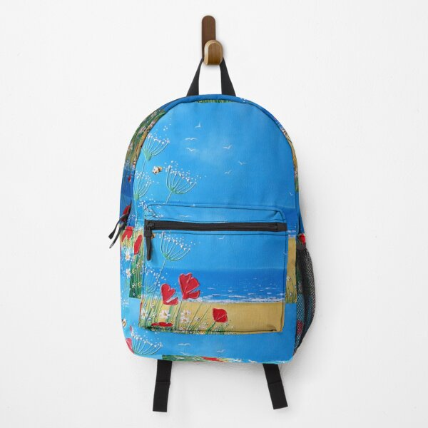 Seaside Poppies, Summer Poppies, Summer Beach, Ocean Backpack
