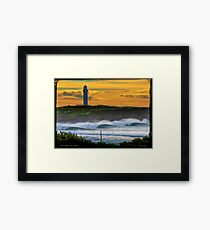 Wollongong City Beach-stacked Framed Print