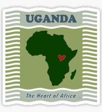 Uganda Heart of Africa Sticker