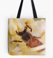 Bee hiding in the grevillea Tote Bag