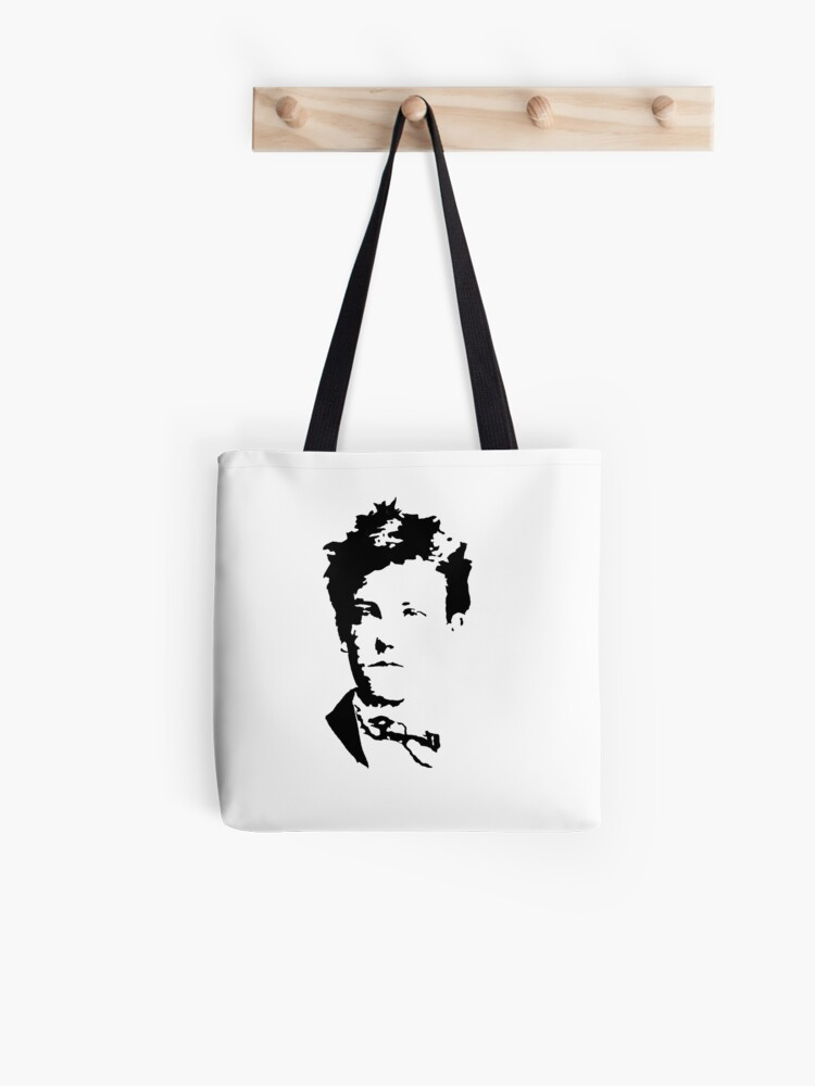 Arthur Rimbaud Tote Bag Hand Painted Stencil