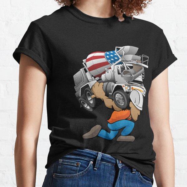 Cement Truck Mixer Cartoon Classic T-Shirt