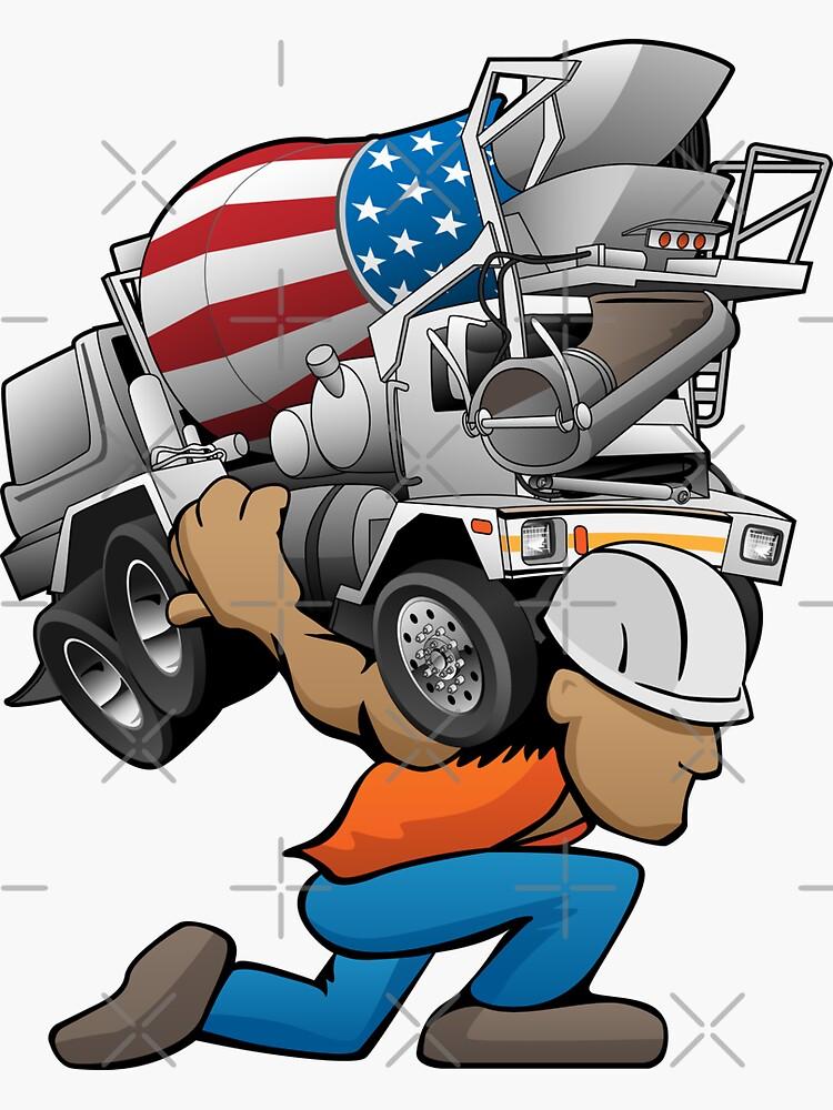 Cement Truck Mixer Cartoon by hobrath