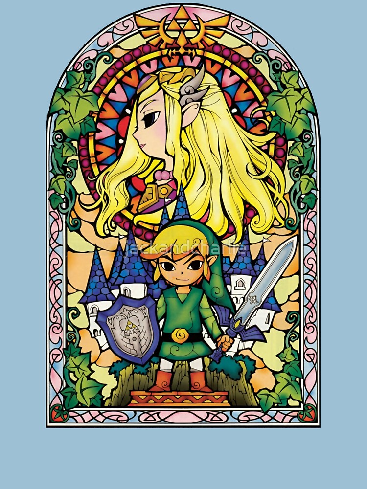 Link and Zelda Stained Glass | Unisex T-Shirt