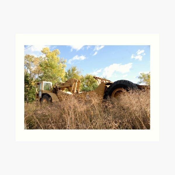 Land Grader parked in the grass Art Print
