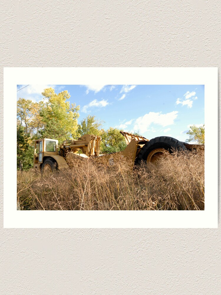 Alternate view of Land Grader parked in the grass Art Print