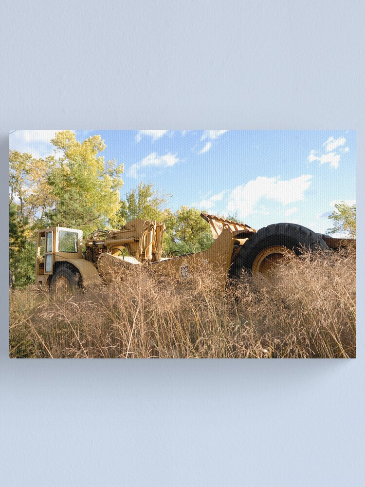 Alternate view of Land Grader parked in the grass Canvas Print