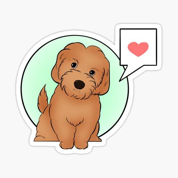 Little Labradoodle  Sticker