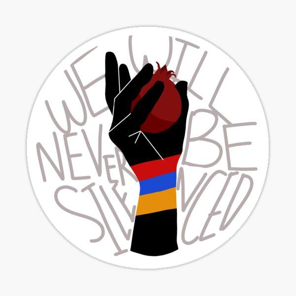 "Armenian ""We Will Never Be Silenced"" Sticker"