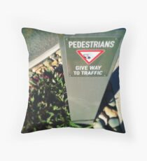 Pedestrians Throw Pillow