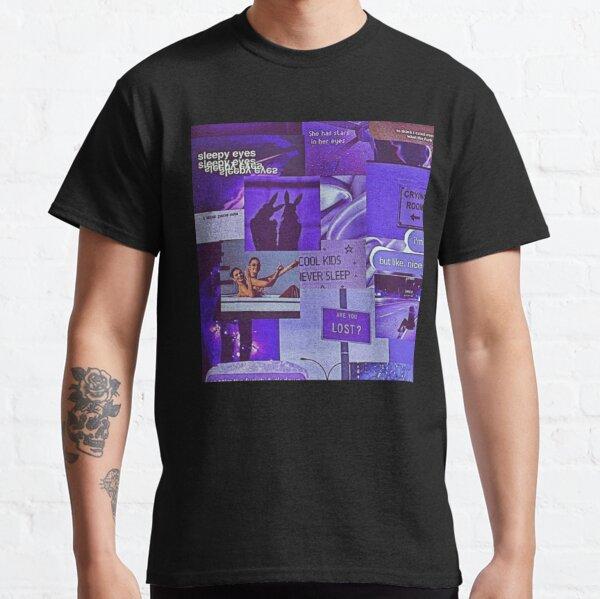 purple aesthetic cover edit collage  retro comic cover black mirror 90s pop art edit illustration Classic T-Shirt